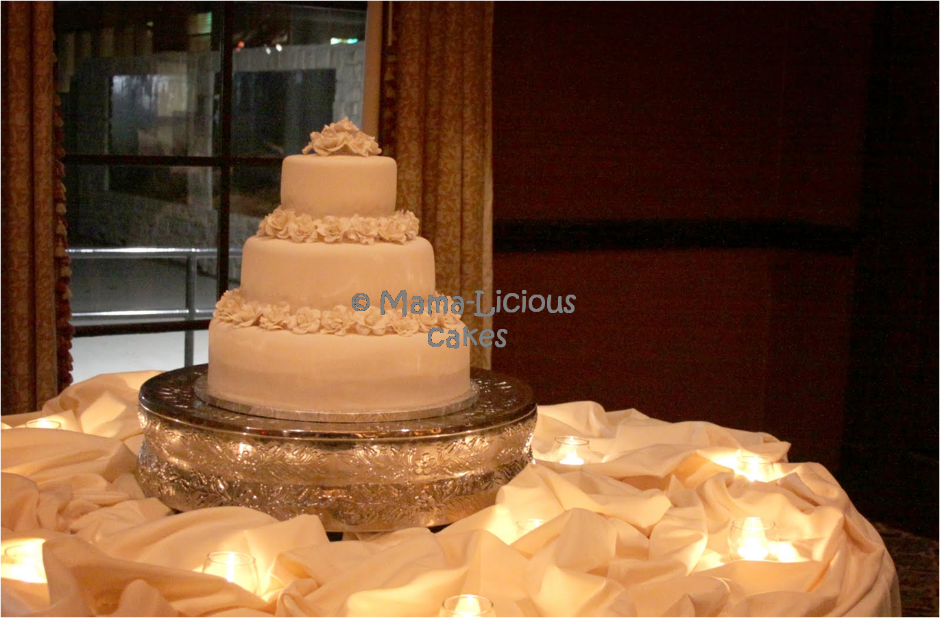 Elegant Wedding cake covered