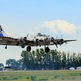Coming Home by Stephen Kennedy - Transportation Airplanes ( history, lethbridge airshow, wwii, warbird, vintage, 2015, bomber, aircraft, planes )