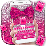 Pink Glitter Bow Keyboard Theme Icon