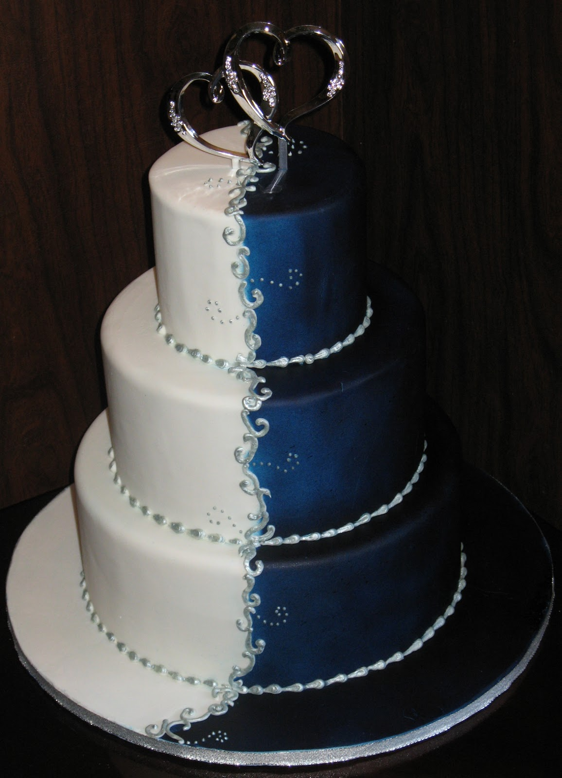 Navy Blue Cake Images : Pin Navy Blue Wedding Cake Cake on Pinterest