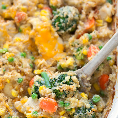Cheddar Ranch Chicken Quinoa Bake