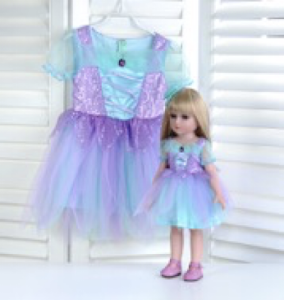 """Кукла серии """"Город Игр"""" 45 см с платьем, голубой-фиолетовый S"""