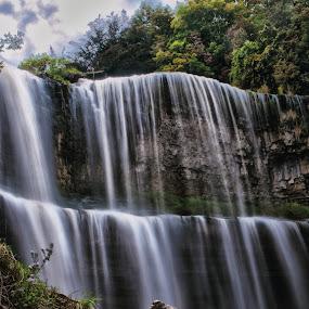 HDR Falls by Brad Chapman - Landscapes Waterscapes ( water, waterfalls, falls, water falls, webster falls,  )