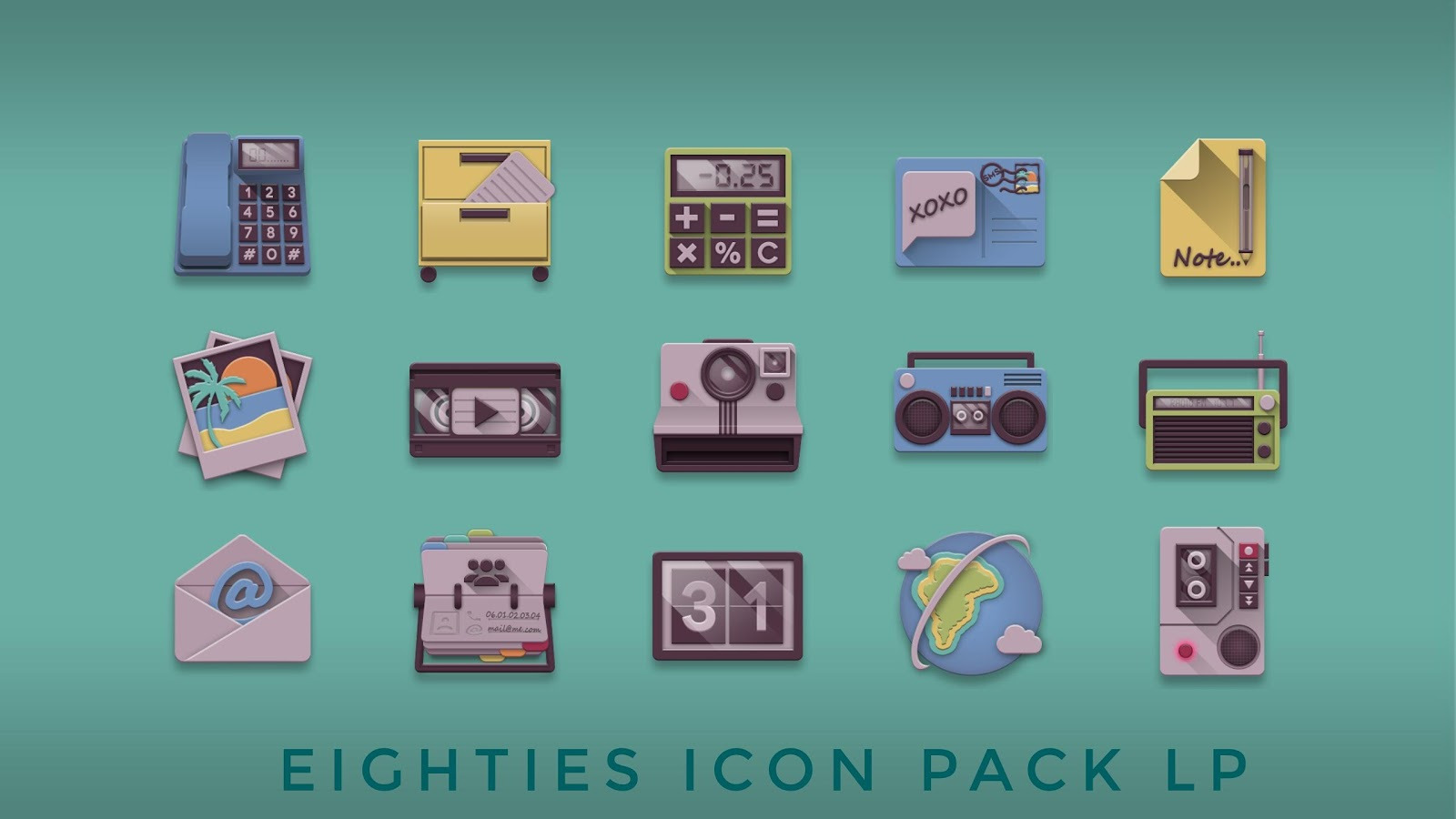 Eighties retro fun icon pack Screenshot 0