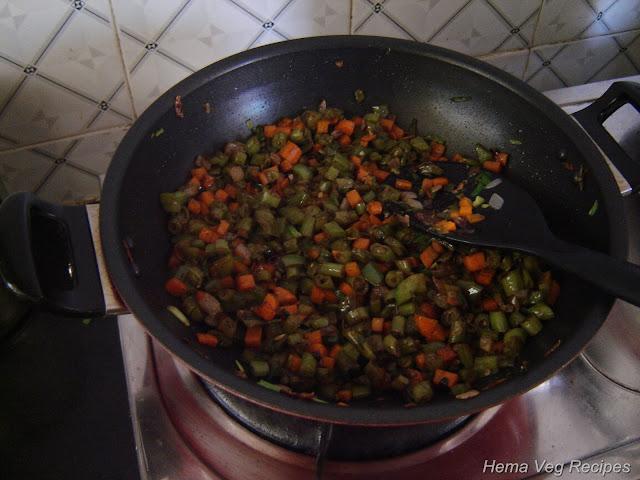 Jeera Fried  Rice Preparation