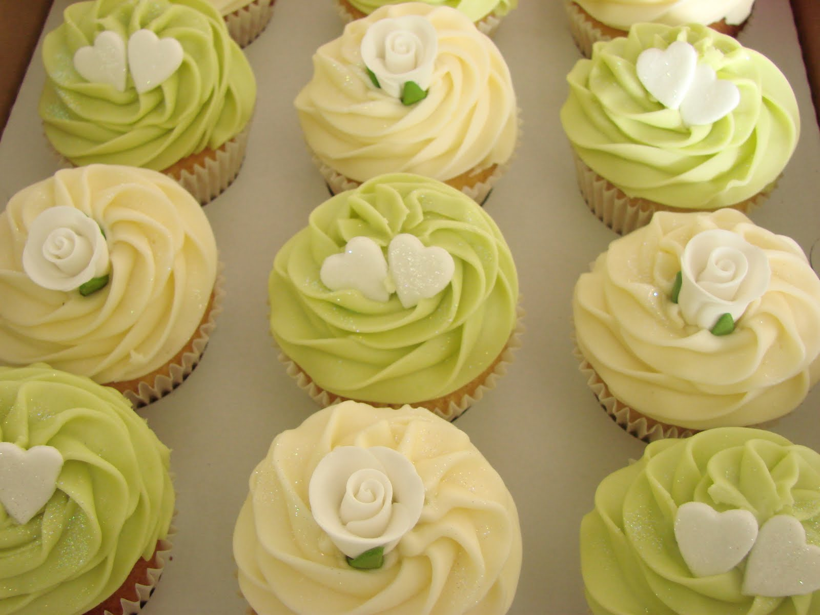 These are some of Jennis wedding cupcakes we sent to her work collegues in