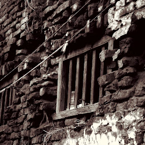 Window by Jhilam Deb - Abstract Fine Art ( old house, window, kolkata, black & white, fine art,  )
