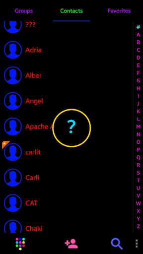 THEME i 9 BLACK COLOR EXDIALER - screenshot