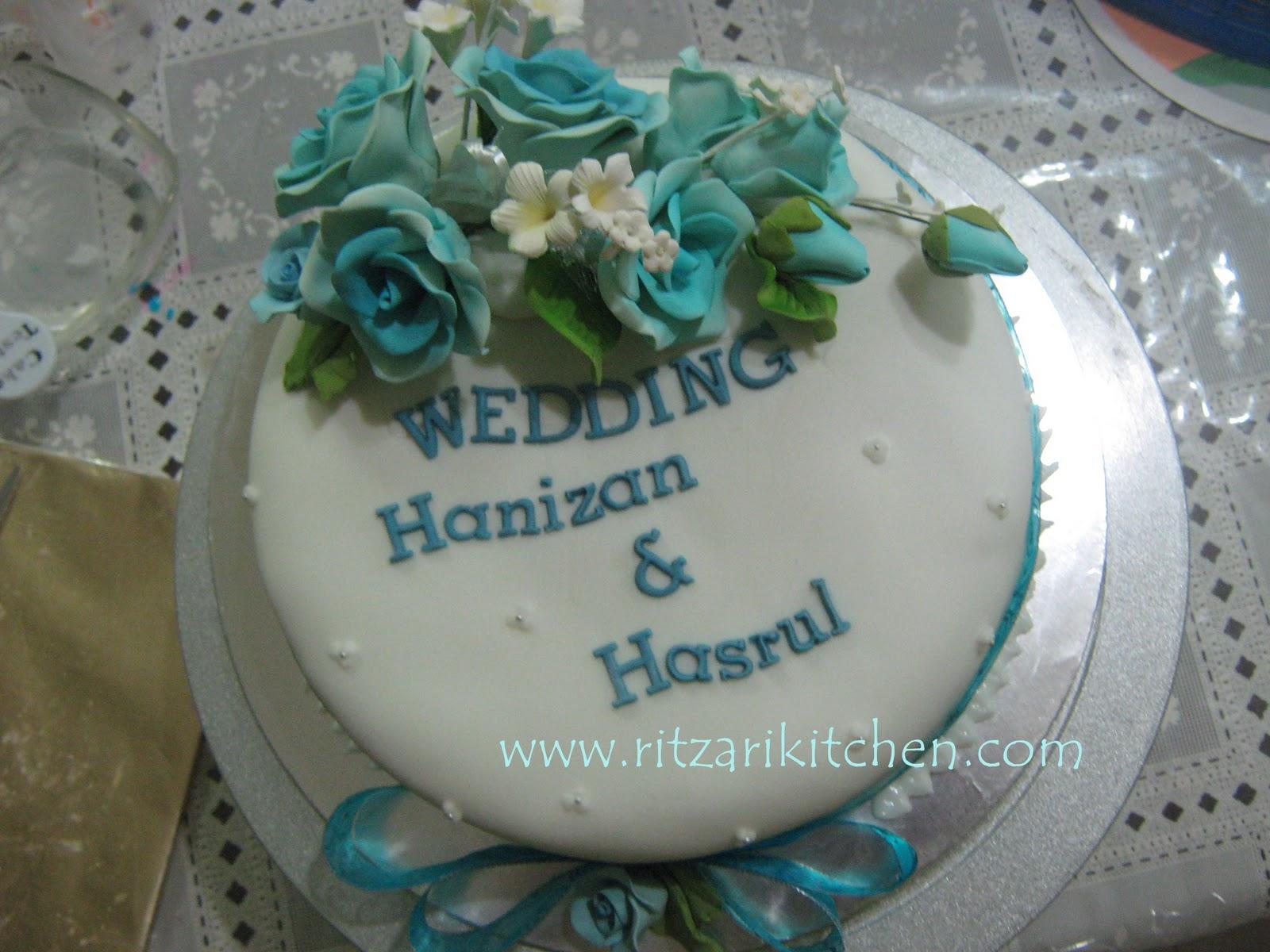 blue themed wedding decor