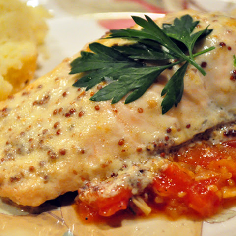 Baked Salmon Fillets with Tomato Coulis