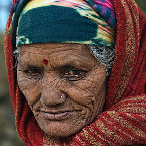 Deep Thoughts.. by Veeresh Pathania - People Portraits of Women ( senior citizen )