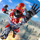 Game Hero Flying Robot War apk for kindle fire