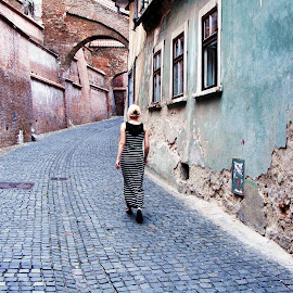 Old City  by Catalina Cosma - People Street & Candids ( #walk #old #city #sibiu #romania #beautiful #memories #me #streets #travel #trip )