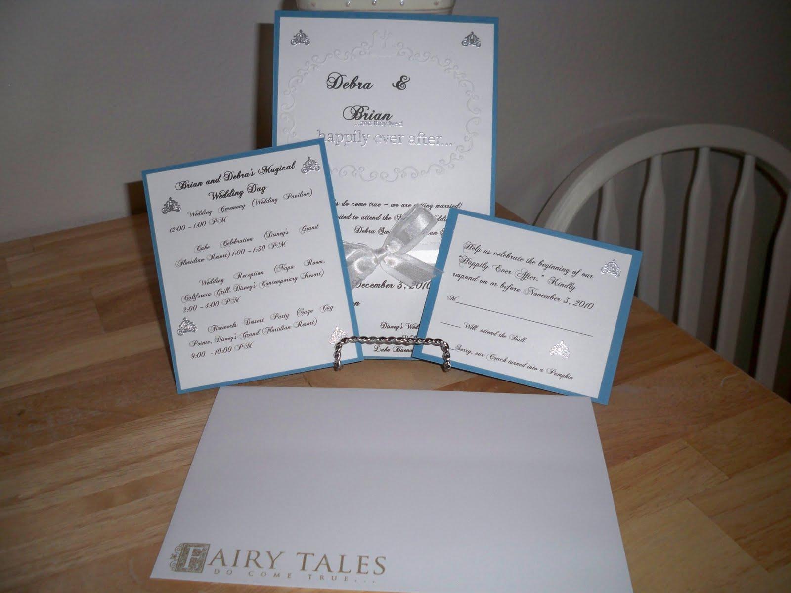 Wedding invitation card sample