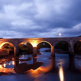 Newport Co. Mayo  by Helen Quinn - Buildings & Architecture Bridges & Suspended Structures ( ireland, blue hour, mayo, newport, bridge )
