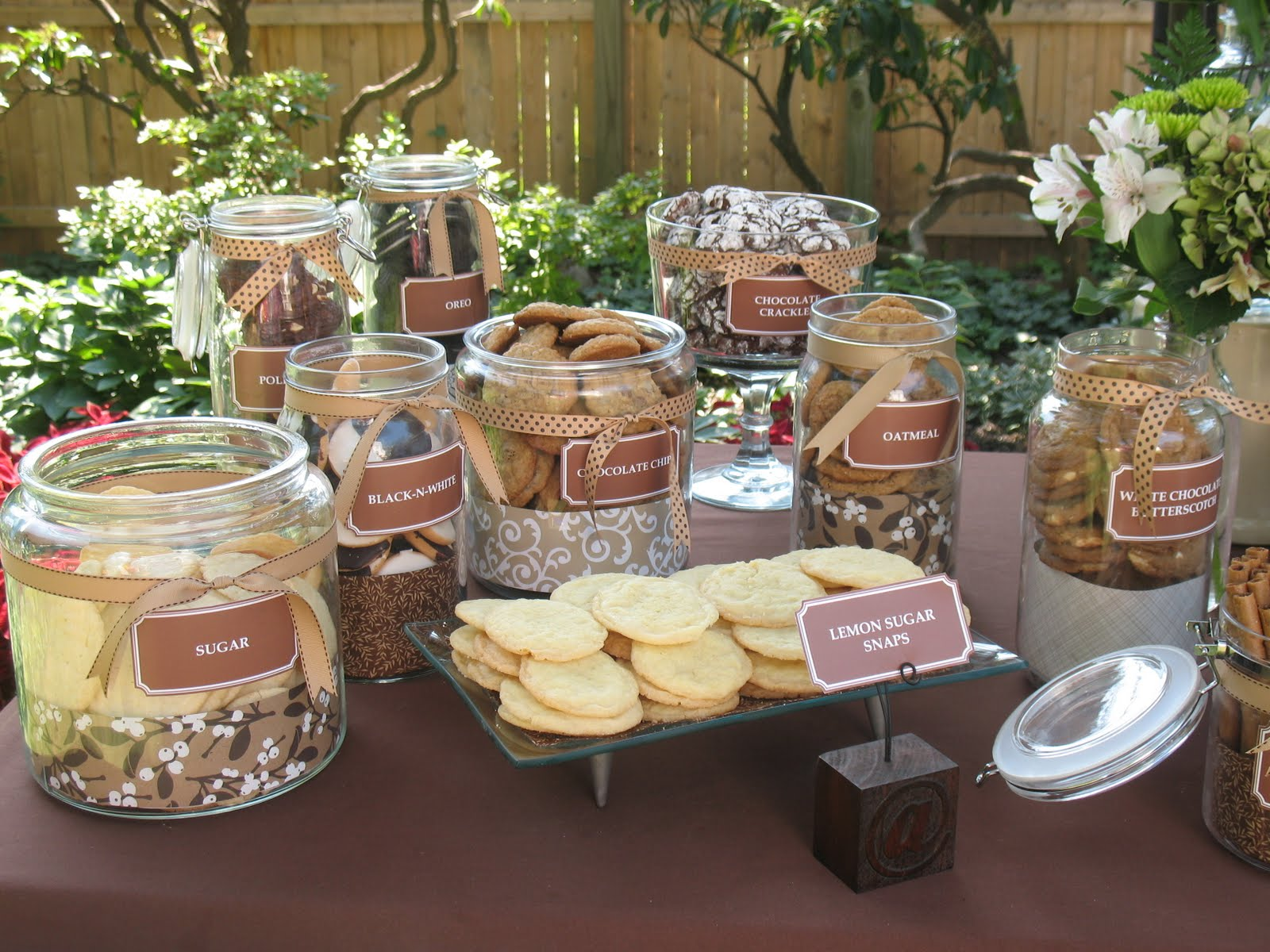 brown and ivory wedding theme