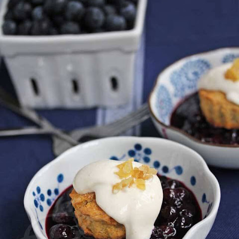 Gingered Blueberry Shortcakes with Light Creamy Topping Recipe (Gluten-Free)