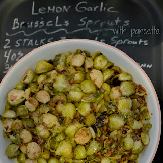 Lemon Herb Brussels Sprouts with Pancetta