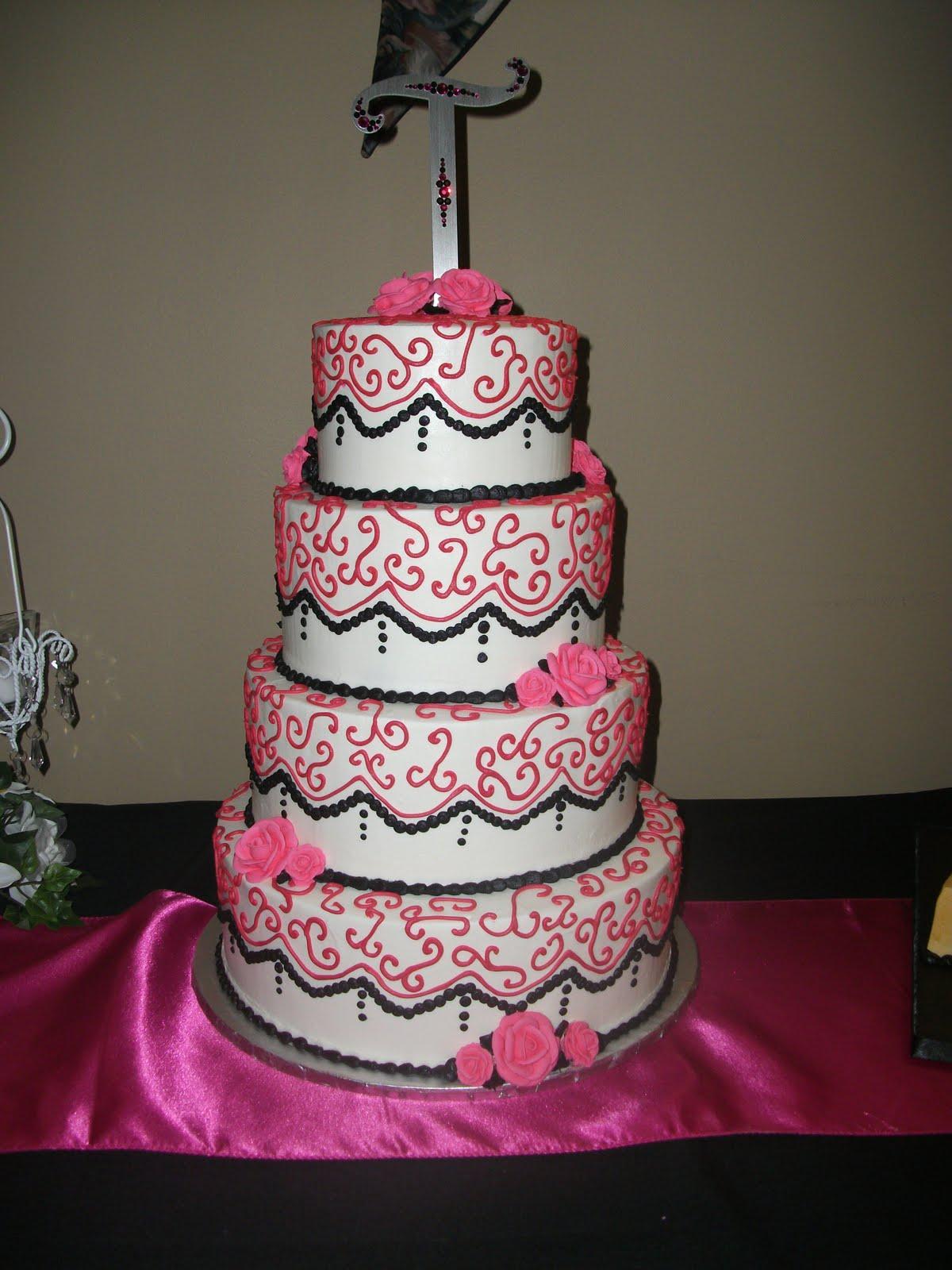 Terrilyn s blog Hot Pink & Black Wedding Cake