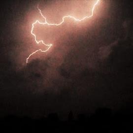 Sweet Strike  by Steve Valenzuela - Landscapes Weather ( lightning, awesome, beautiful, night, storms )
