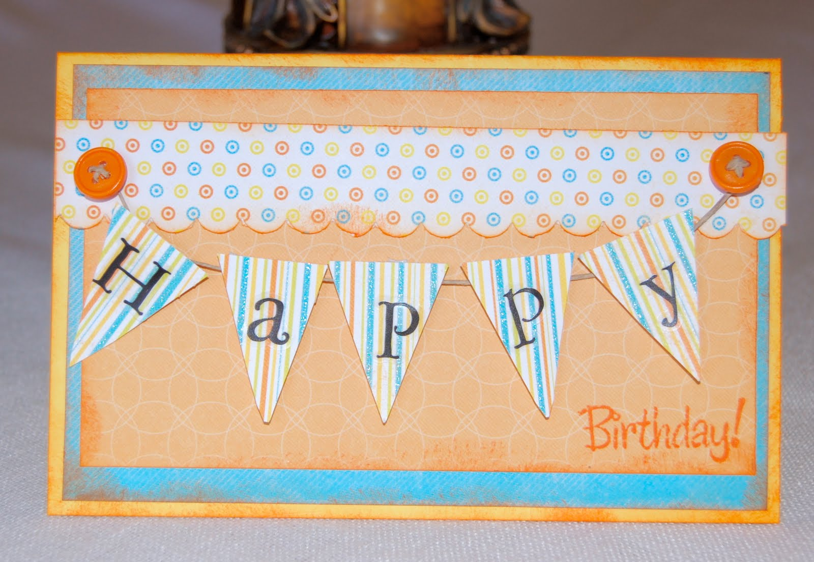 Birthday Banner. Buenas Dias! For todays card, I jumped on the trendy