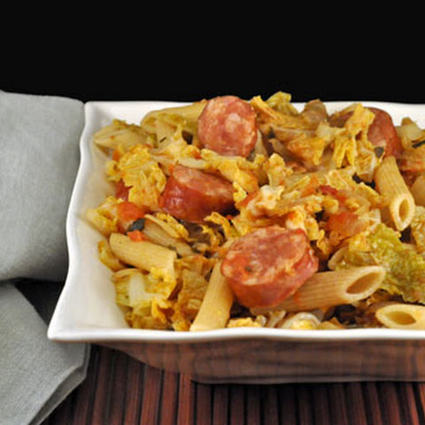 Pasta with Sausage, Cabbage and Sage
