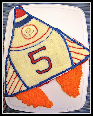 How To Make A Rocket Ship Cake