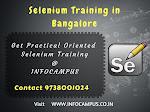 Selenium training in Bangalore emphasized on practical classes