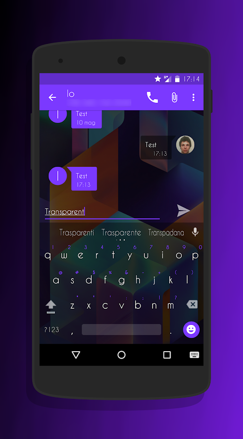 Transparent Purple -CM13 Theme Screenshot 3