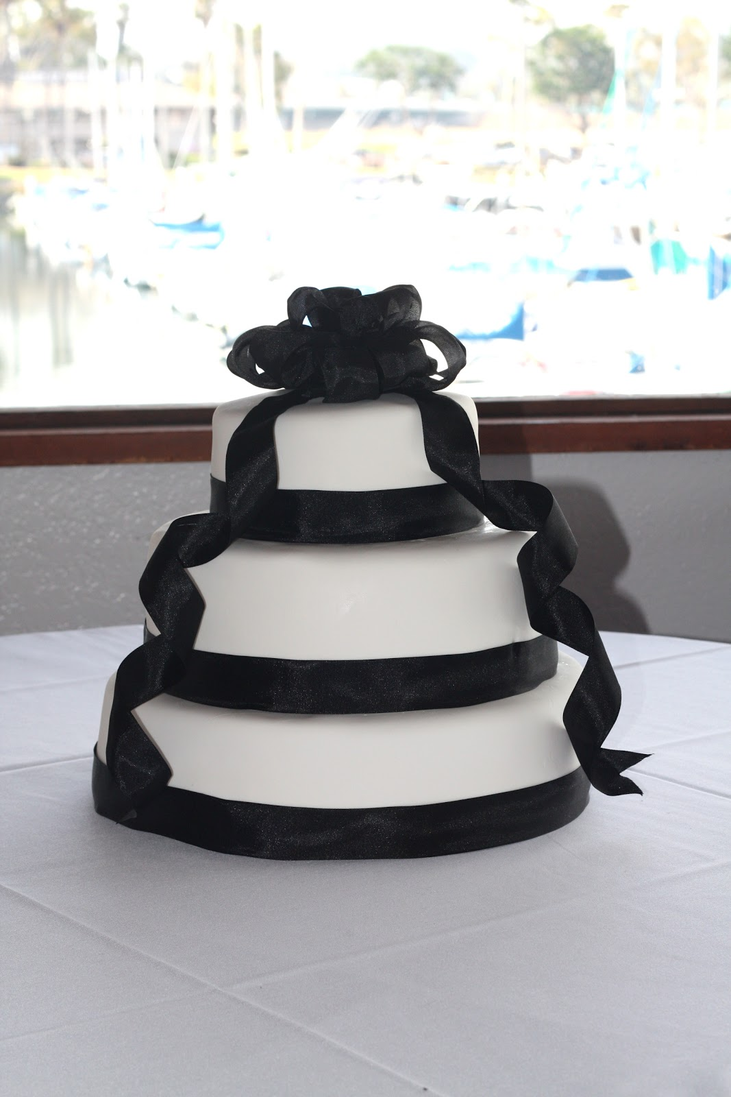 Classic Black Ribbon Wedding
