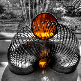 Orange by Jerry Kambeitz - Artistic Objects Toys ( slinky, orange, shadows, filter, black,  )