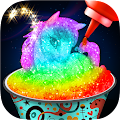 Game Glowing Rainbow Snow Cone Maker - Unicorn Desserts APK for Windows Phone