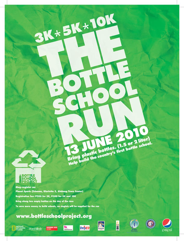 Run And Help Build A School- With Bottles!