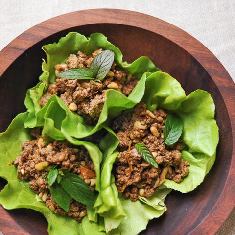 Ground Lamb with Pine Nuts and Mint