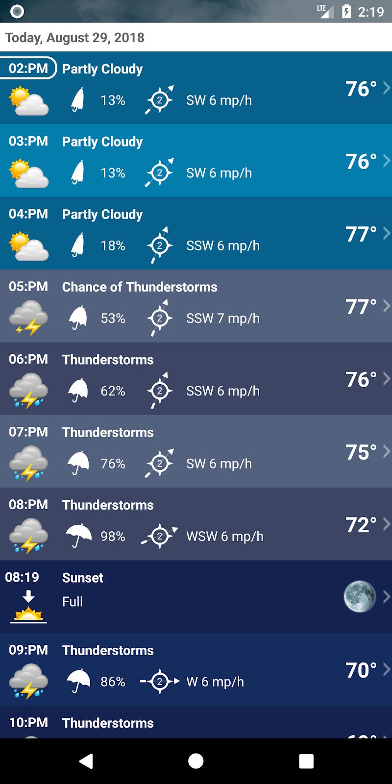 Weather XL PRO Screenshot 3