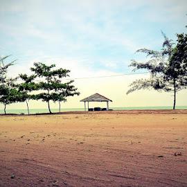 Hening Sejenak by EDie Ed - Instagram & Mobile Android ( sand, blue sky, pasir panjang, indonesia, beach, singkawang )