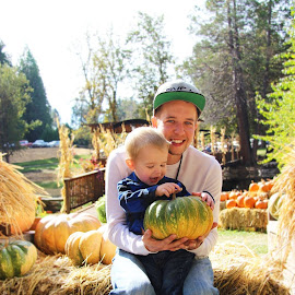 First Pumpkin by Andrea Guyton - People Family