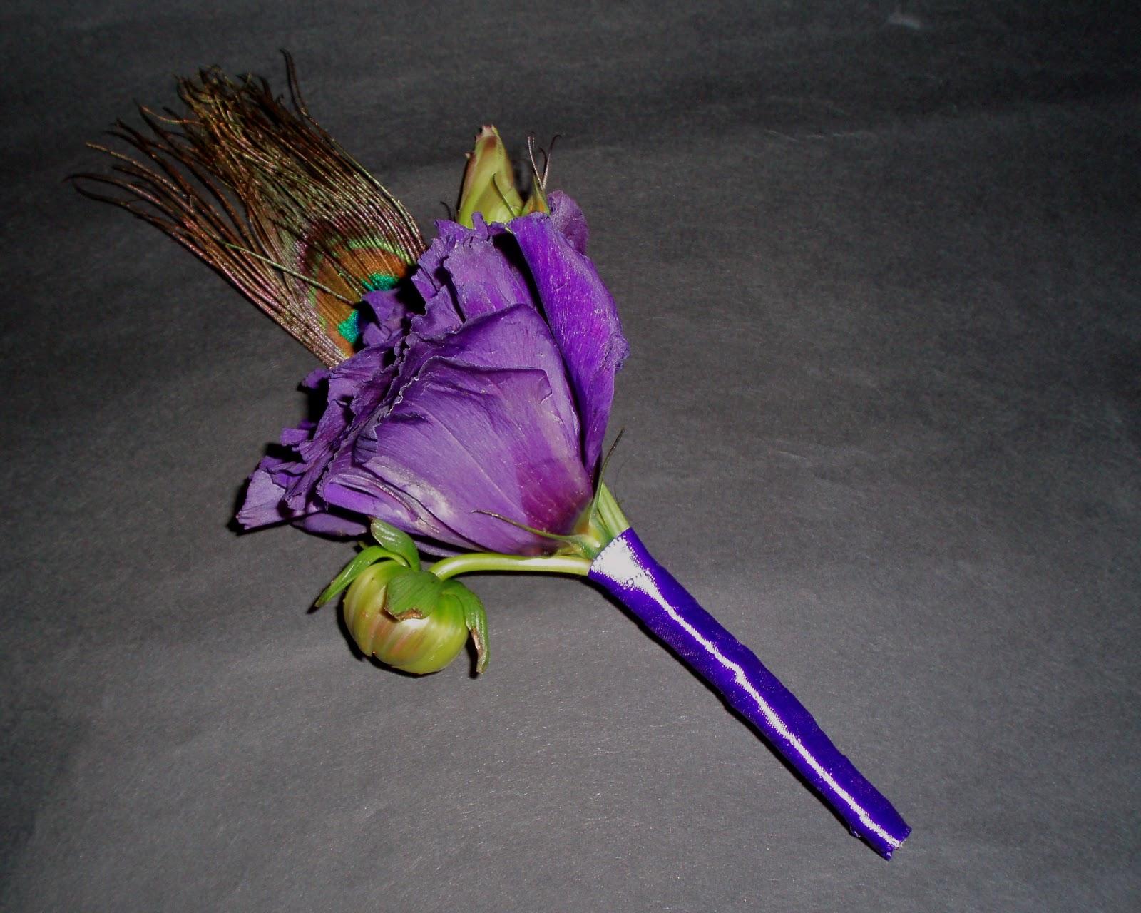 navy purple green wedding