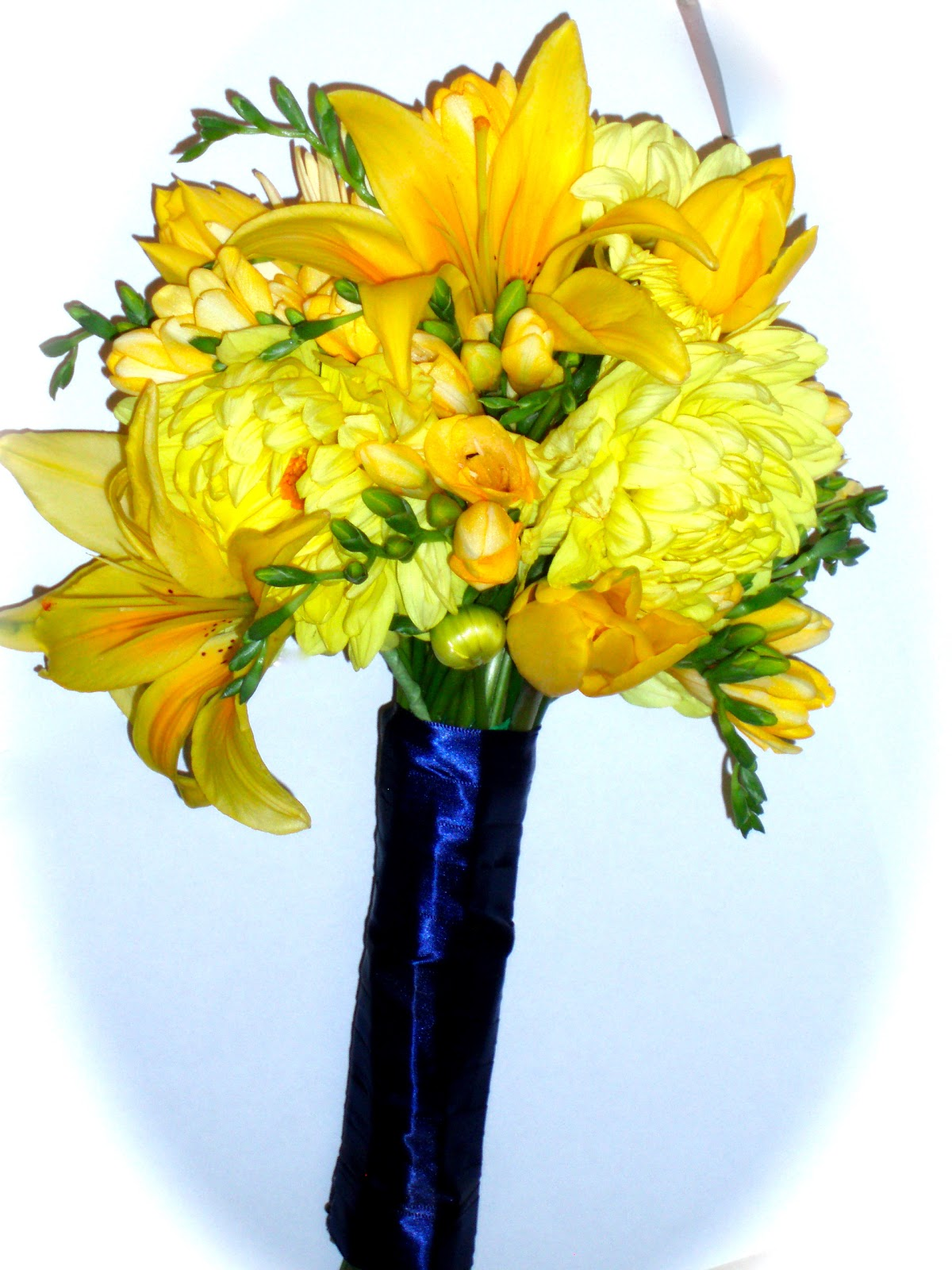 yellow and navy blue wedding