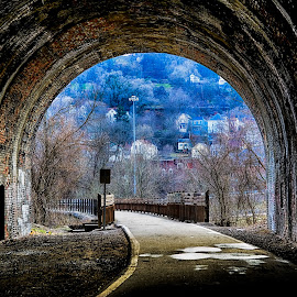 Heritage Trail by Scott Bryan - City,  Street & Park  City Parks ( park, trail, wheeling, view, landscape, wv, city, tunnel )