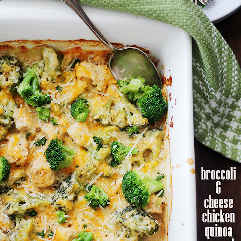 Broccoli and Cheese Chicken Quinoa Casserole