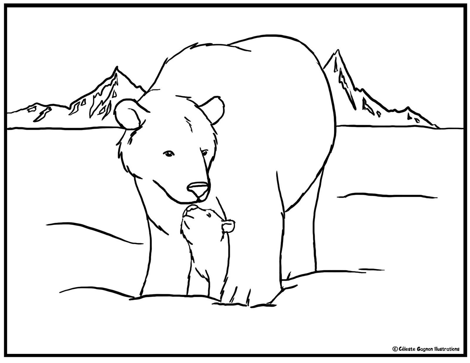 polar bear coloring pages - Polar Bear Crafts DLTK's Crafts for Kids
