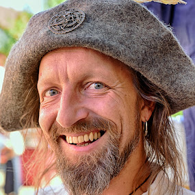 Haha, I Got You ! by Marco Bertamé - People Portraits of Men ( cap, beard, teeth, smiling, eyes, pirate,  )