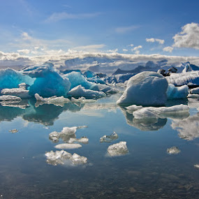 Ice Land by Henrik Spranz - Landscapes Waterscapes ( glacier, water, iceland, lagoon, blue, ice, lake )