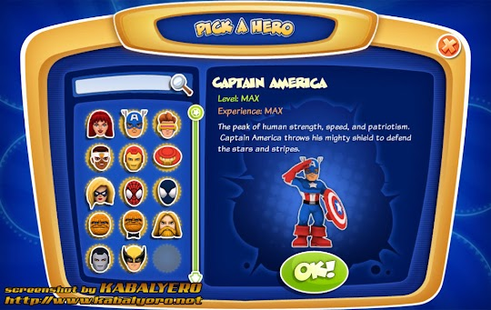 Captain America in Super Hero Squad Online