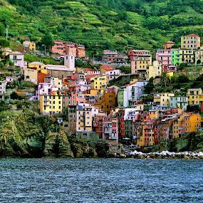 Cinque Terre - Riomaggiore by Bernarda Bizjak - City,  Street & Park  Vistas (  )