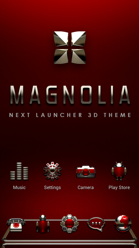 MAGNOLIA Next Launcher Theme Screenshot 0