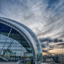 The Sage by Adam Lang - Buildings & Architecture Public & Historical ( sage, sky, river tyne, gateshead, newcastle )