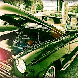 Black and White Sedan by Greg Bracco - Transportation Automobiles ( canon, suffolk county, classic cars, greg bracco, new york car show, north babylon, deer park ave, long island, canon 5dmarkiii, car show, greg bracco photography., greg bracco photography,  )