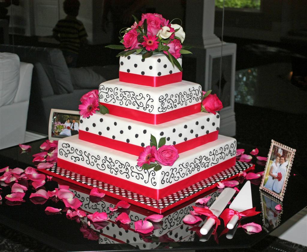 Eddilisa\'s blog: hot pink and black wedding